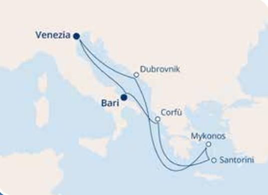 COSTA LUMINOSA – Mediterraneo Orientale