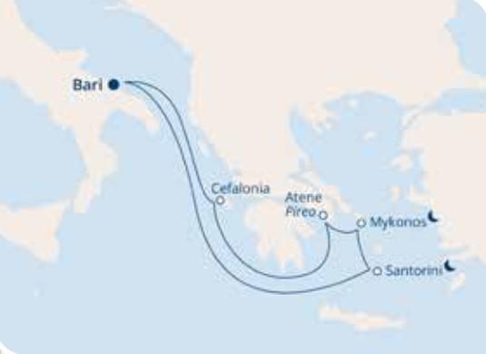 COSTA MEDITERRANEA – Mediterraneo Orientale