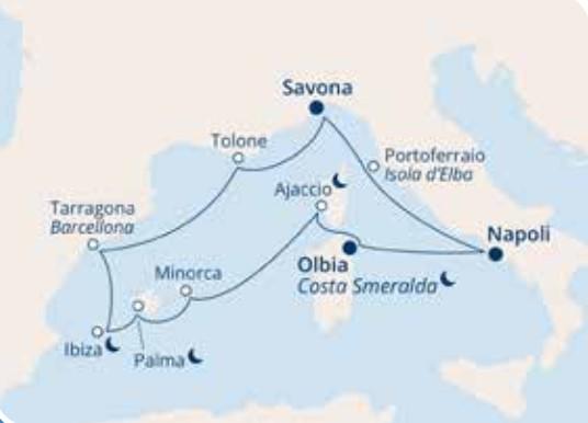COSTA VICTORIA – Mediterraneo Occidentale