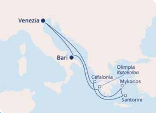 COSTA DELIZIOSA – Mediterraneo Orientale