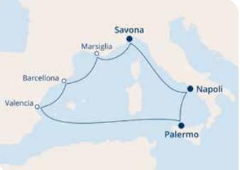 COSTA FORTUNA – Mediterraneo Occidentale