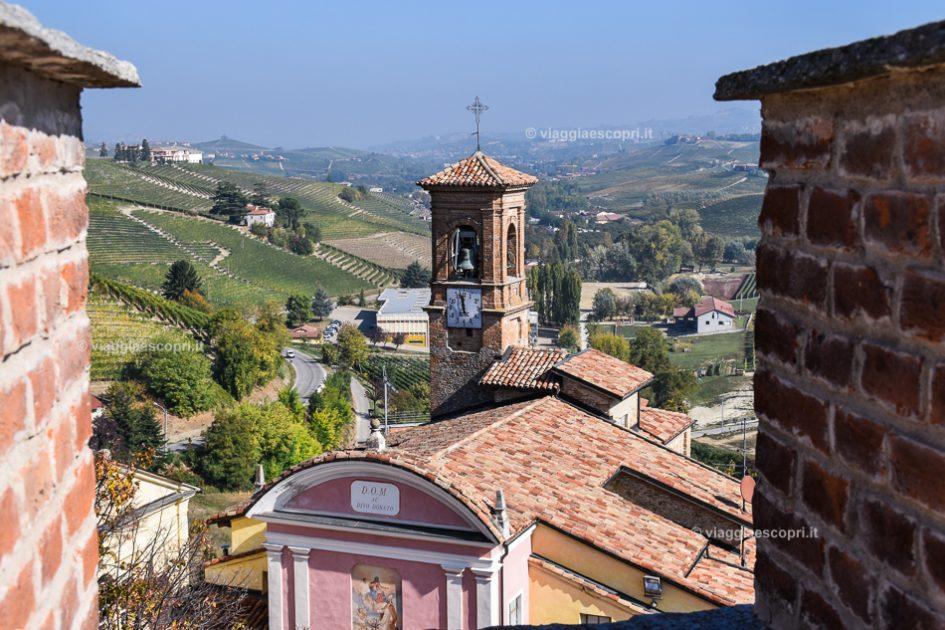 Panorama delle Langhe dal Castello di Barolo, le migliori destinazioni europee da visitare in autunno