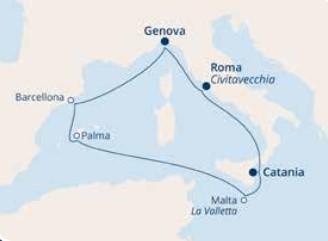 COSTA PACIFICA – Mediterraneo Occidentale