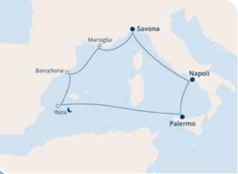 COSTA DIADEMA – Mediterraneo Occidentale